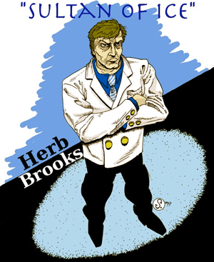 'Sultan of Ice' Herb Brooks, drawn by Cody Schibi