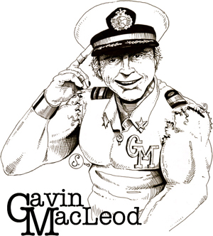 Gavin MacLeod, drawn by Cody Schibi